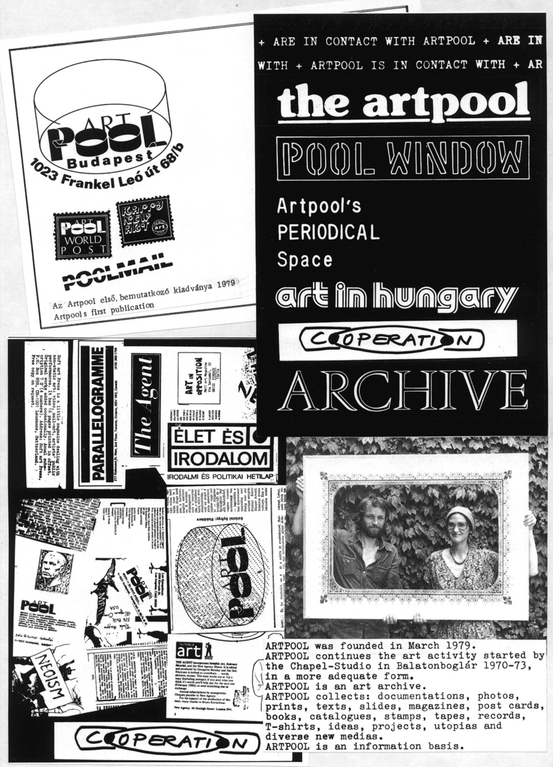 Collection of Artpool Art Research CenterGraphic design and realization: György Galántai / Artpool